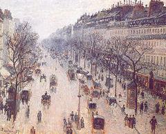 Камиль Писсарро (1830-1903) Бульвар Монмартр после полудня. Солнечно 1897