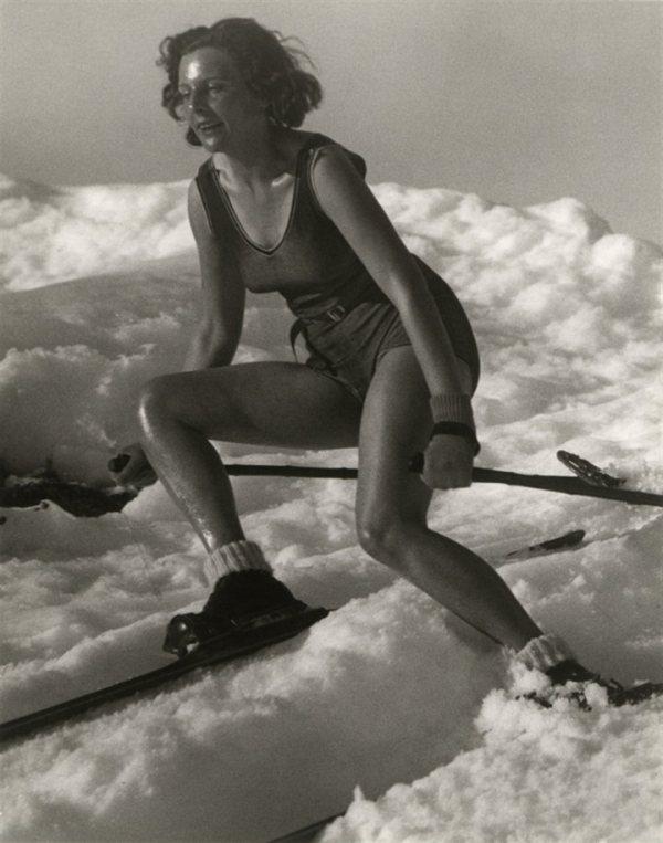 Лени Рифеншталь на лыжах