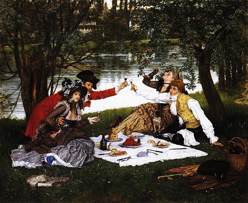 Как правильно организовать пикник-James_Tissot_-_La_Partie_carrée