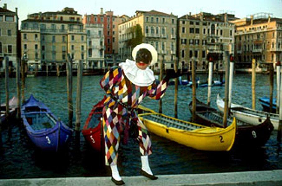 Венецианская маска Арлекин