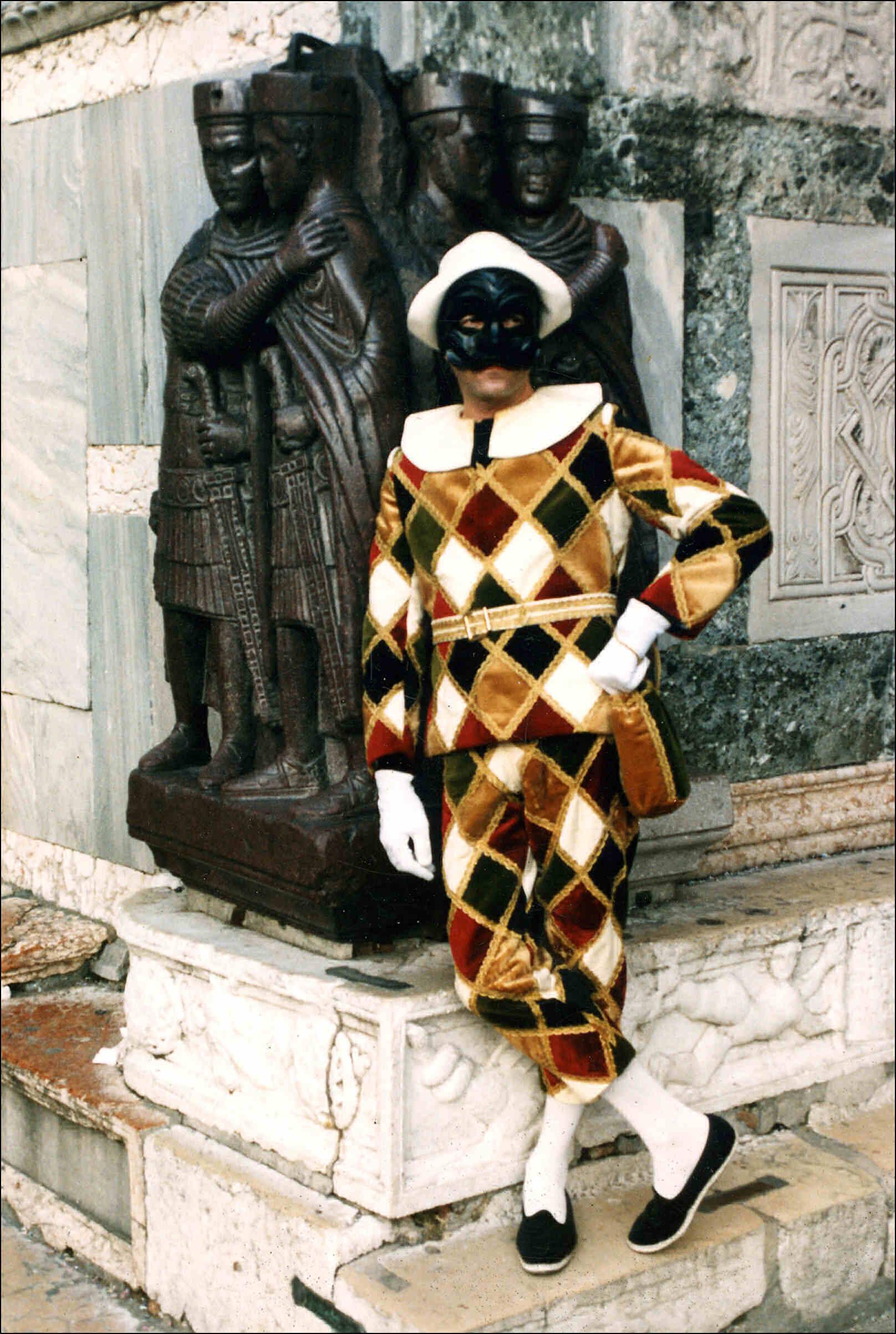 Венецианская маска Арлекин02