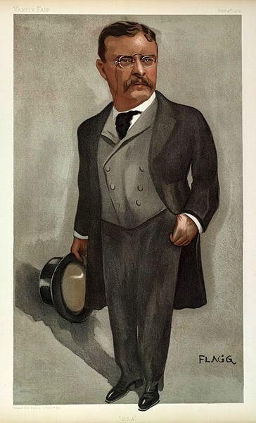 Современная карикатура на Т.Рузвельта