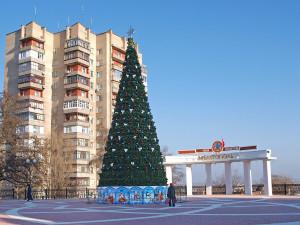 Новогодняя елка в городе Мелитополе 2011 год