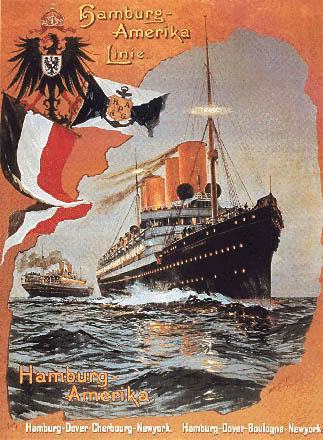 Постер компании Hamburg - Amerika