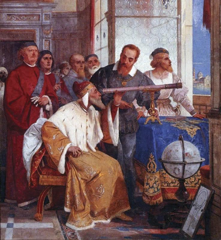Галилей демонстрирует изобретенный им телескоп венецианскому дожу
