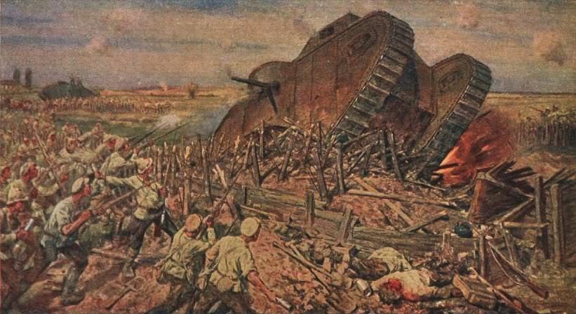 И.А.Владимиров (1869 - 1947) Захват врангелевских танков Красной Армией под Каховкой