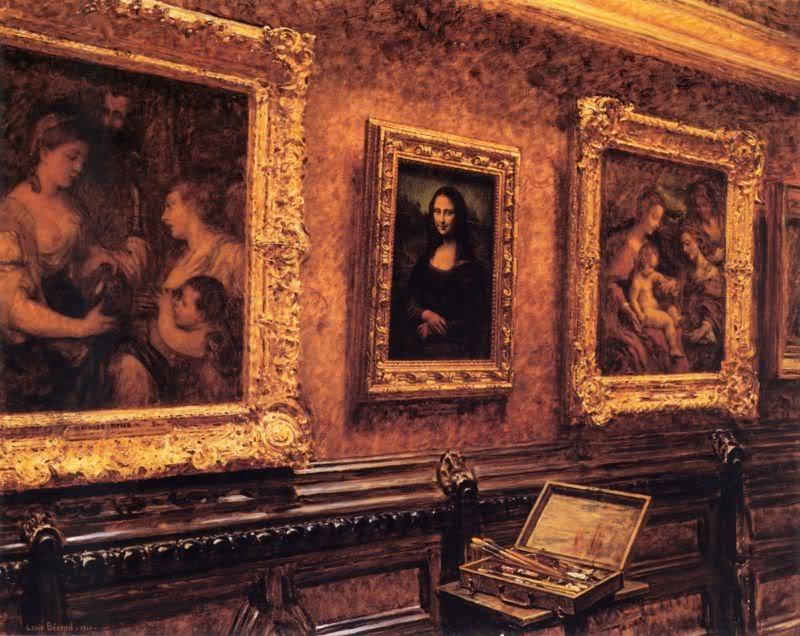 Луи Беру.  Мона Лиза в Лувре