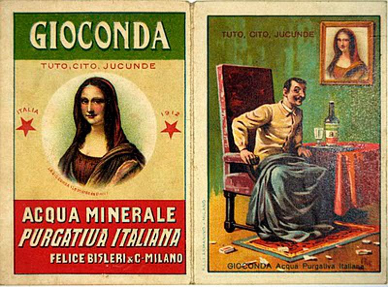 """В Италии даже появилась минеральная вода """"Джоконда"""" с портретом Винченцо Перуджиа"""