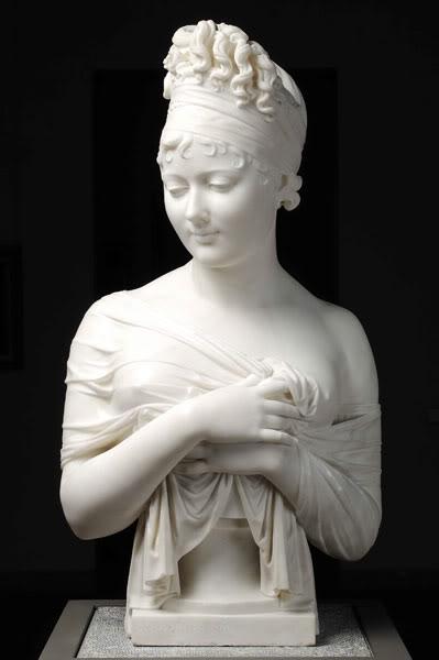 """J. Chinard, """"Portrait of Juliette Récamier,"""" 1805-06 (Lyon: Musée de Beaux-Arts)"""