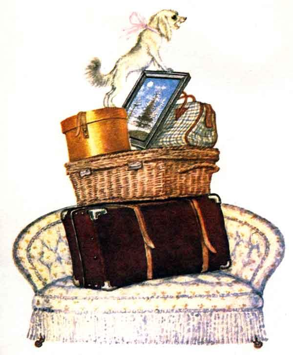 С.Маршак. Багаж. Дама сдавала в багаж диван, чемодан, саквояж...
