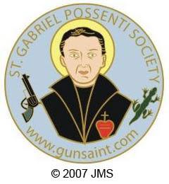 Эмблема общества св.Габриэля Поссенти. Именно оно требует сделать св.Габриэля покровителем стрелков