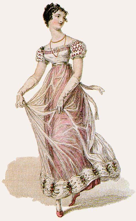 """Женская мода 1823 года. Вполне возможно, так одевалась Эстер-""""Торпиль"""""""