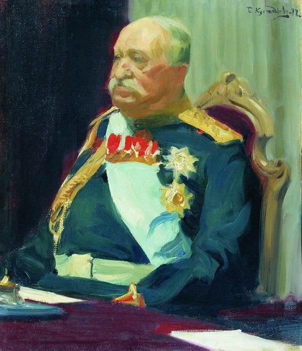 Н.П.Игнатьев. Картина работы Б.Кустодиева
