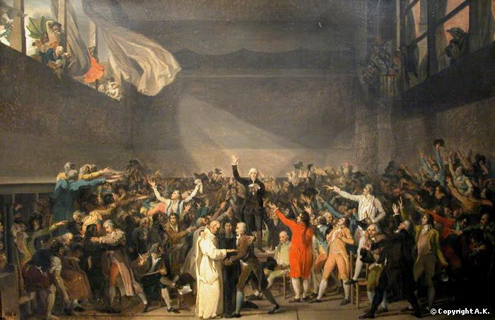 Jacques-Louis David : Le serment du Jeu de Paume, le 20 juin 1789 - Les Etats-Généraux - Musée Carnavalet