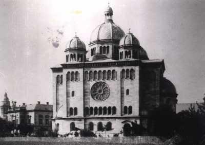 """Синагога в Ландау. Разрушена в 1938 году во время """"хрустальной ночи"""""""