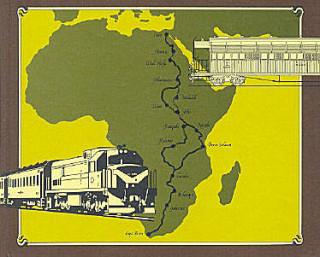 Вот как должна была пройти трансафриканская железная дорога
