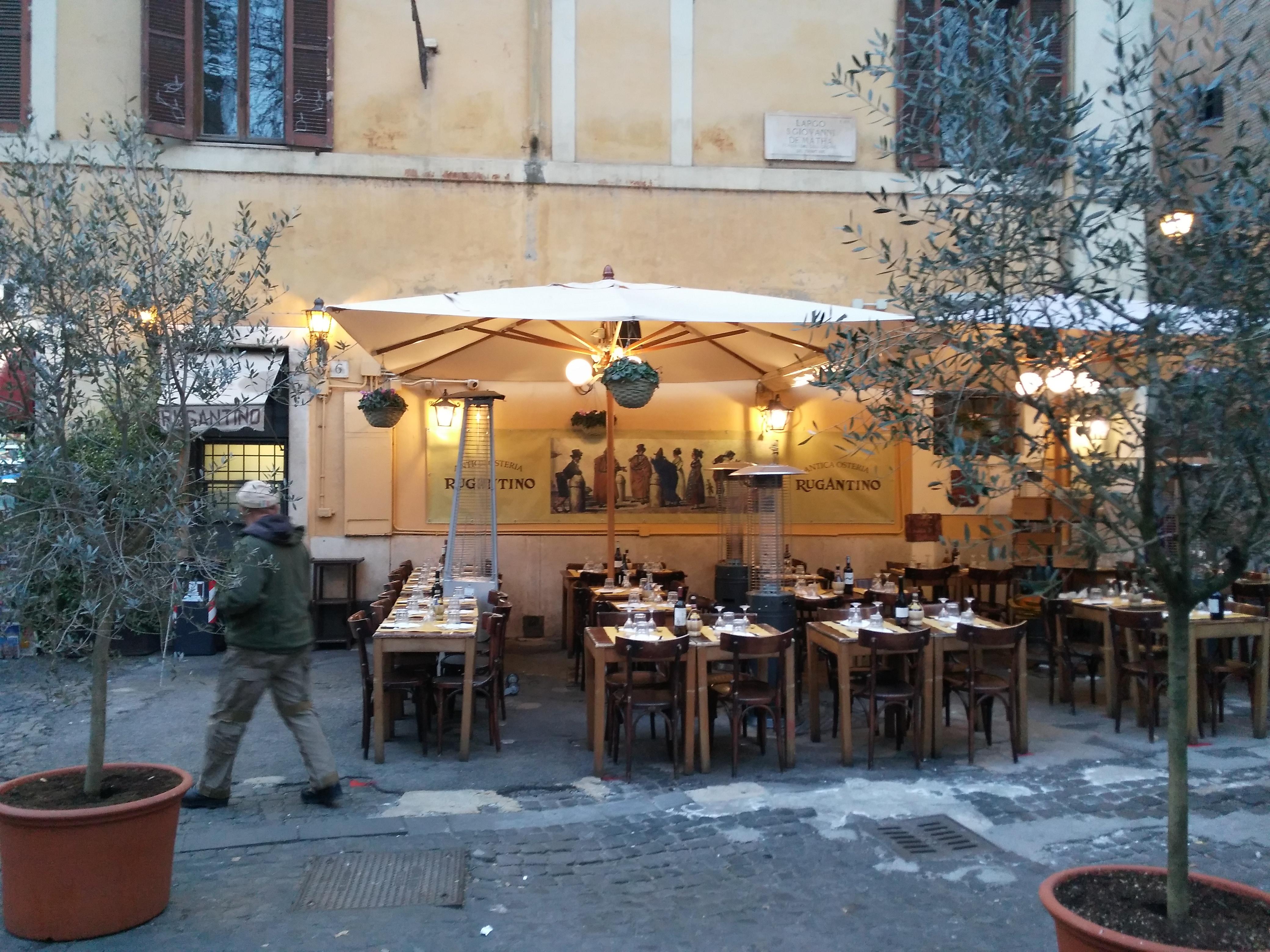Ресторан «Ругантино» в Риме, за Тибром
