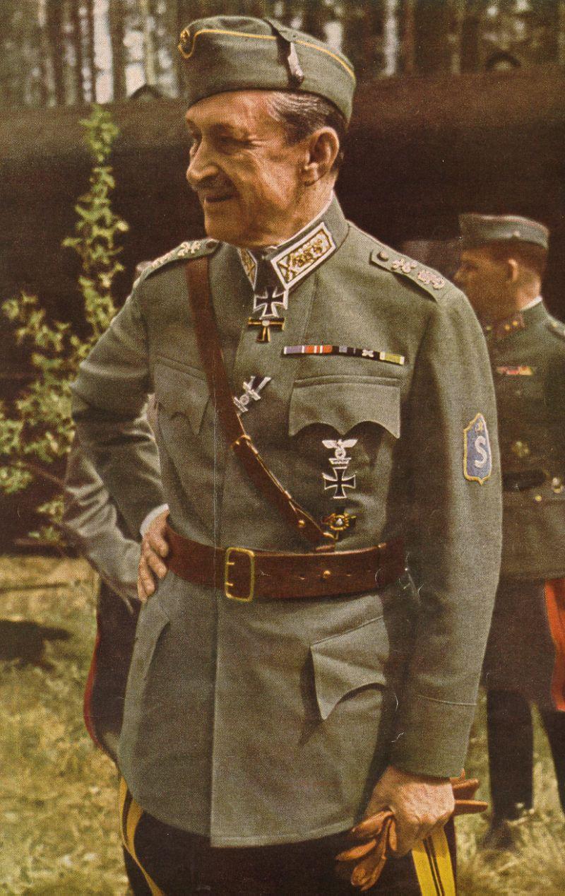 Карл Эмиль Маннергейм, 1942. Одна из немногих его цветных фотографий
