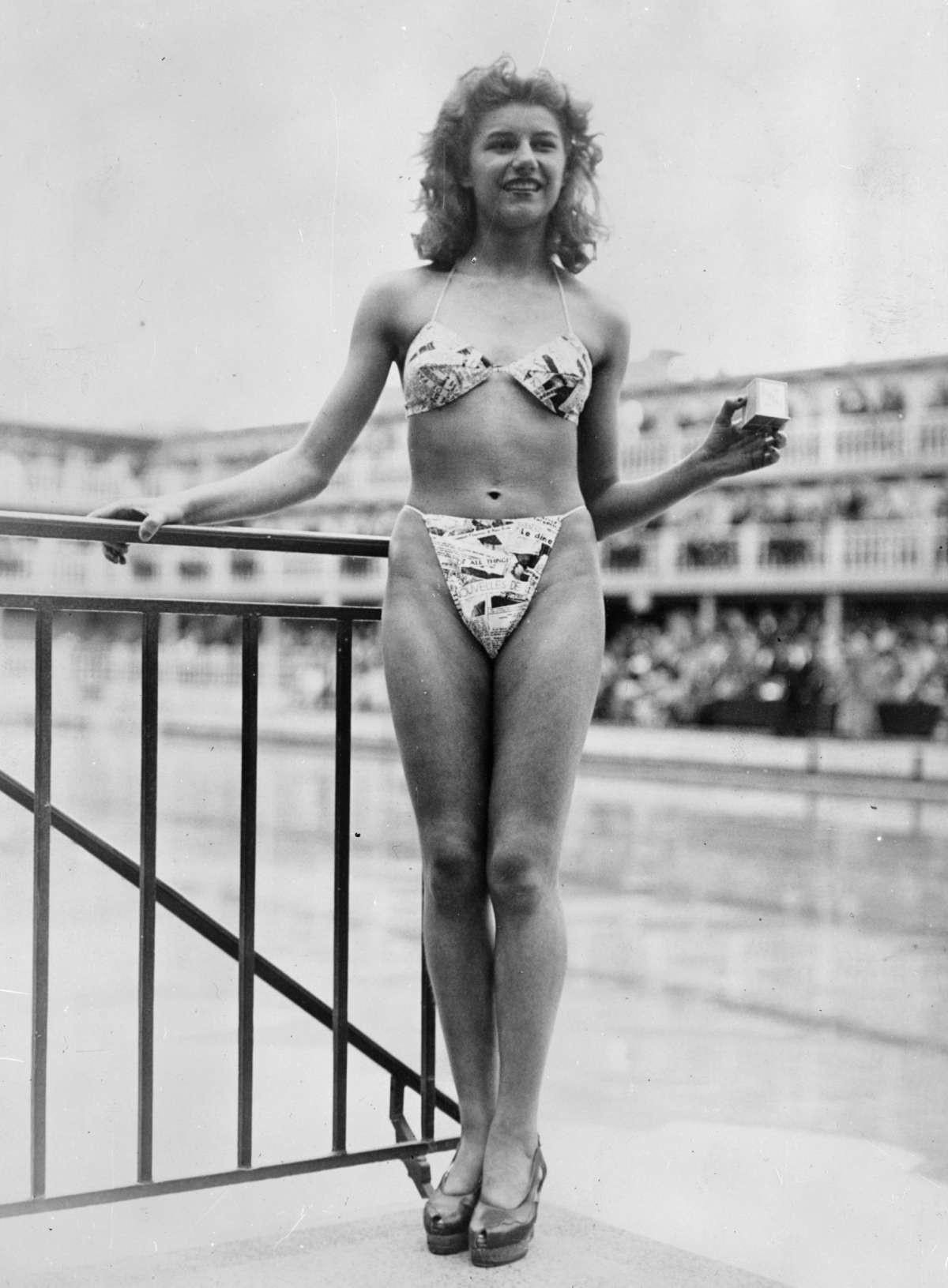 Мишелин Бернардини впервые продемонстрировала бикини