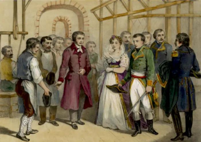 Наполеон в мастерской ЖаккараДжоконда. Распечатка советских времён