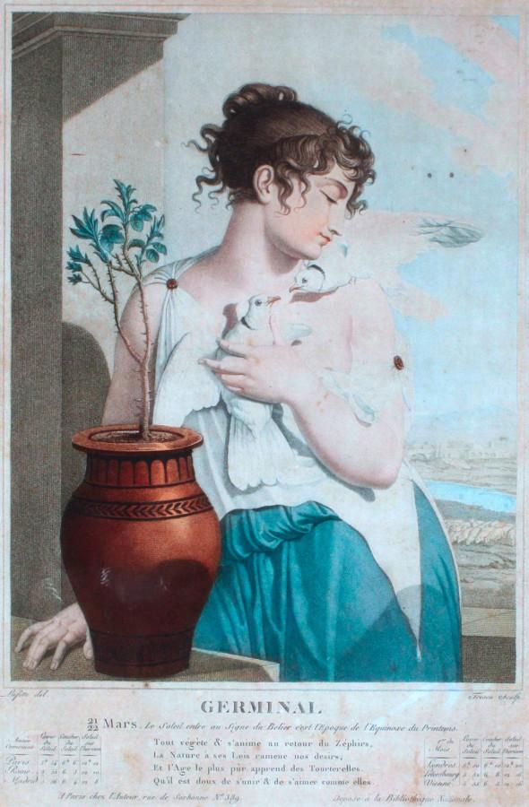 Жерминаль. Восьмой месяц Республиканского календаря. Художник Луи Лаффит, 1794