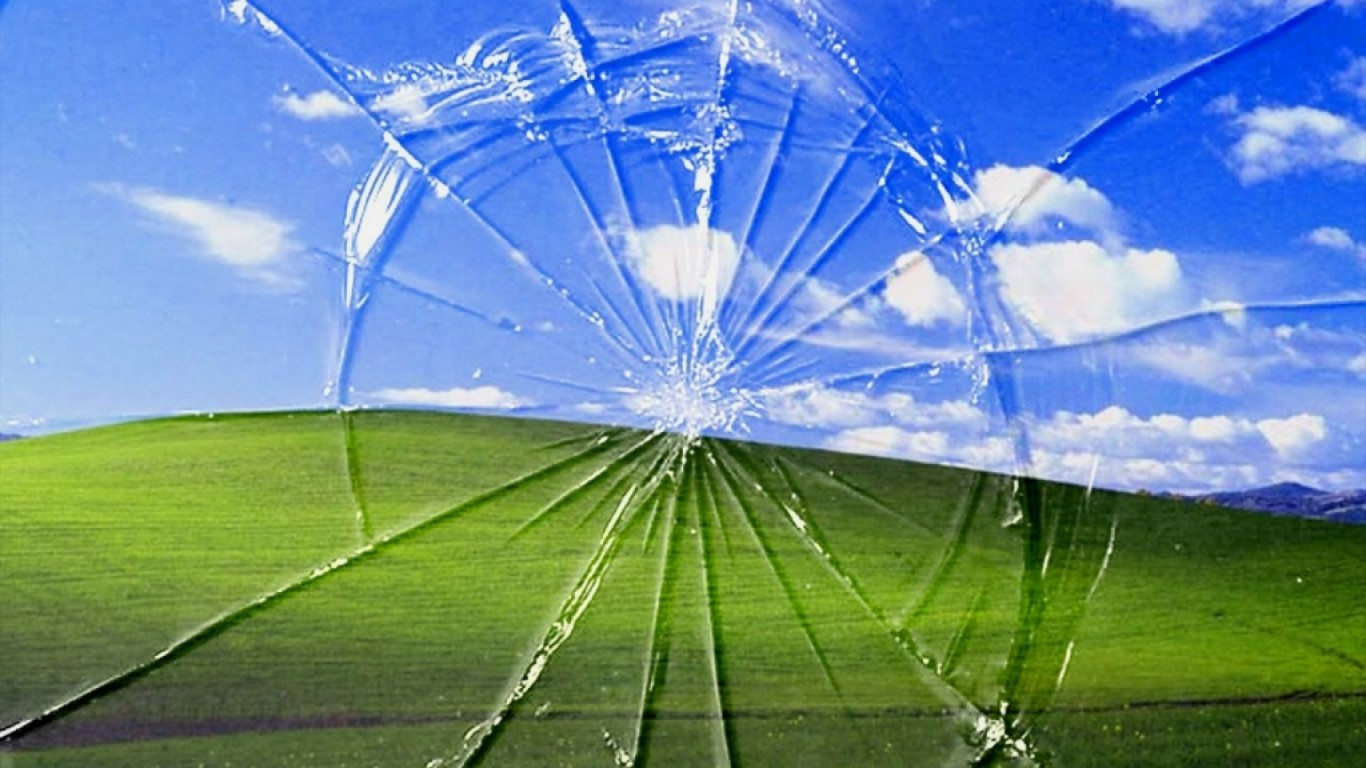 clouds_landscapes_bliss_windows_xp_broken_screen_1366x768_29186