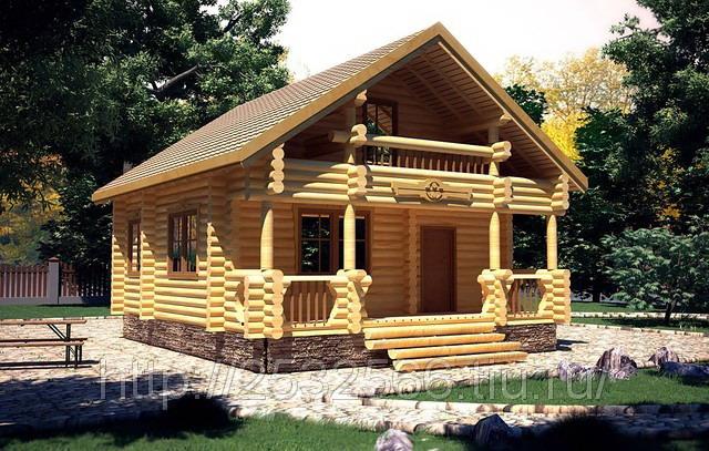 Дом из бревна2