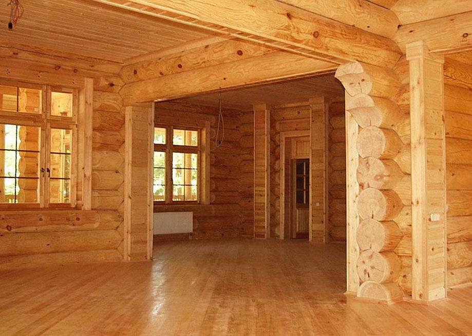 внутренности деревянного дома