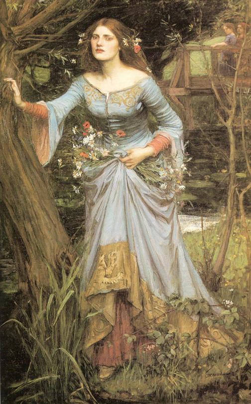 ophelia-1910-Уотерхаус