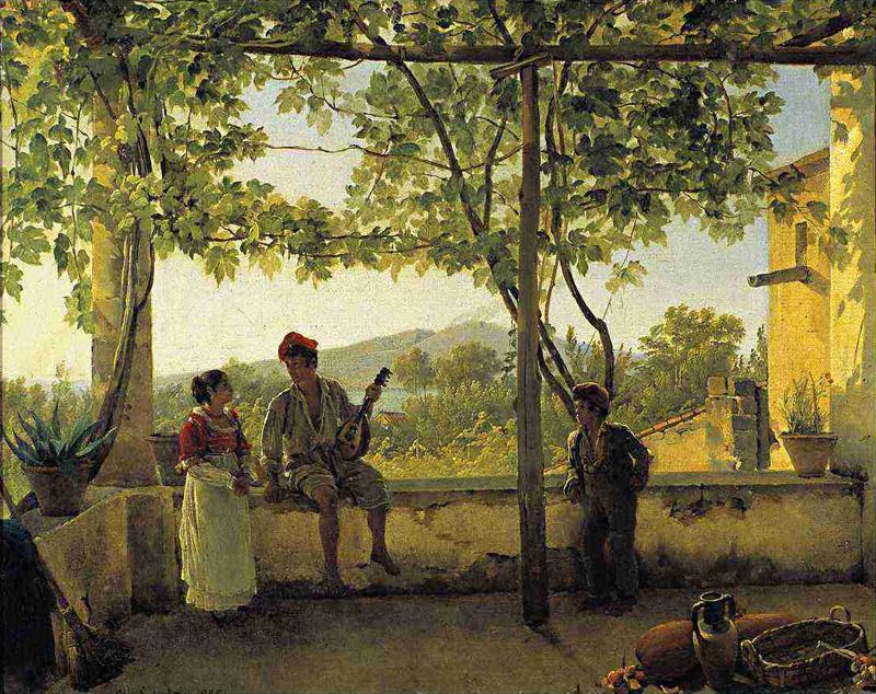 Терасса-в-Сорренто.-1828