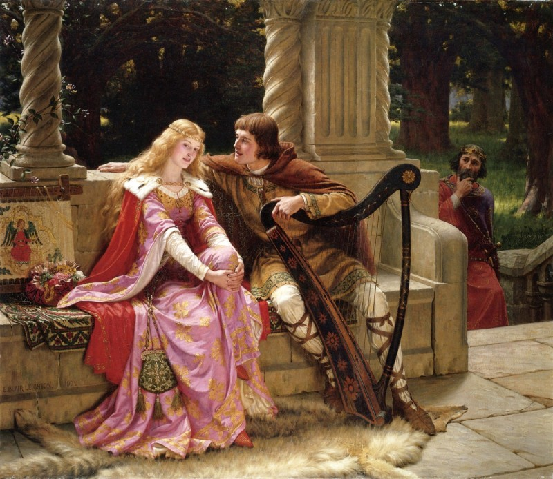 8Leighton-Tristan_and_Isolde-1902(1)Эдмунд Лейтон  «The End of The Song». 1902.jpg