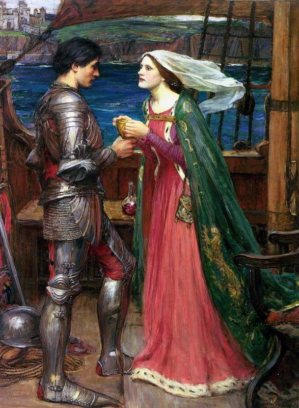 Джон Уильям Уотерхаус Tristan and Isolde with the Potion. 1916.jpg