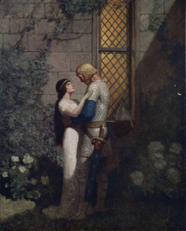 Ньюэлл Конверс Уайет Illustration of The Boy's King Arthur Tristram and Isolde.jpg