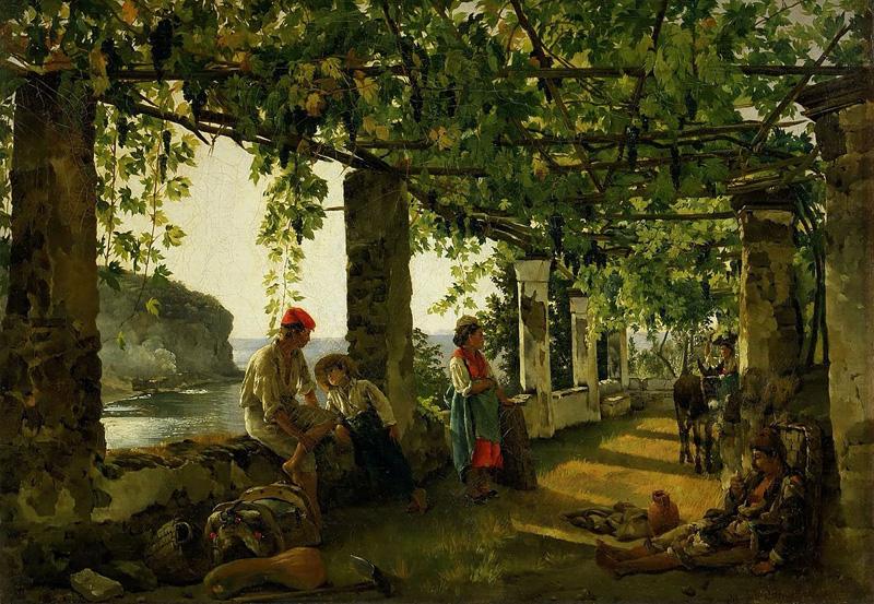 Веранда,-обвитая-виноградом,-1828