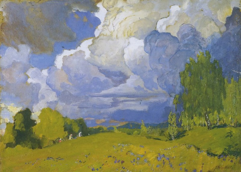 Г.М. Бобровский. Пейзаж с грозовым облаком
