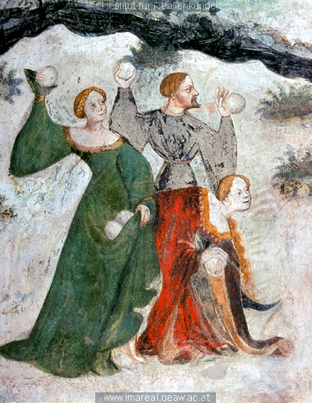 Details 1 from the January fresco at Castello Buonconsiglio, c. 1405-1410
