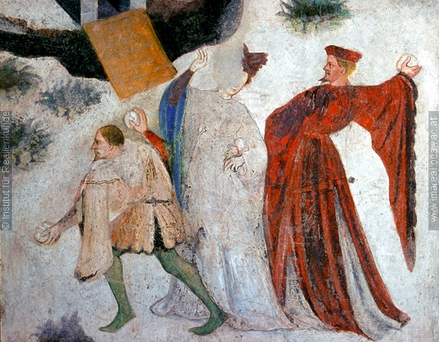 Details 2 from the January fresco at Castello Buonconsiglio, c. 1405-1410