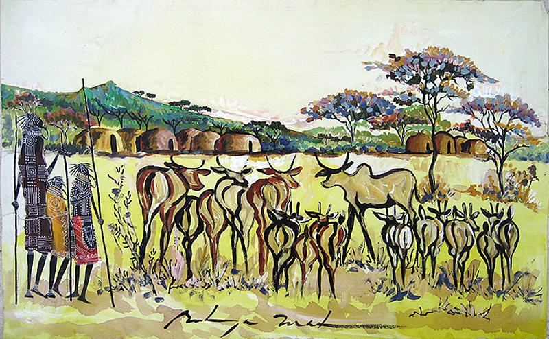 Bulinya---Herding-Cattle-to-the-Manyatta
