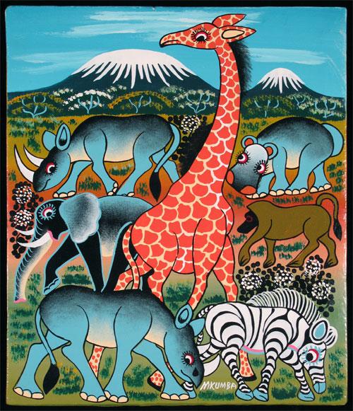 Giraffe and other Animals before Kilimanjaro - Said A. Mkumba