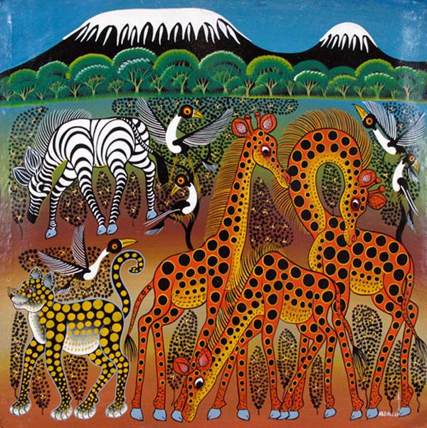 Kilmanjaro-with-Giraffes-Abdallah-Saidi-Chilamboni