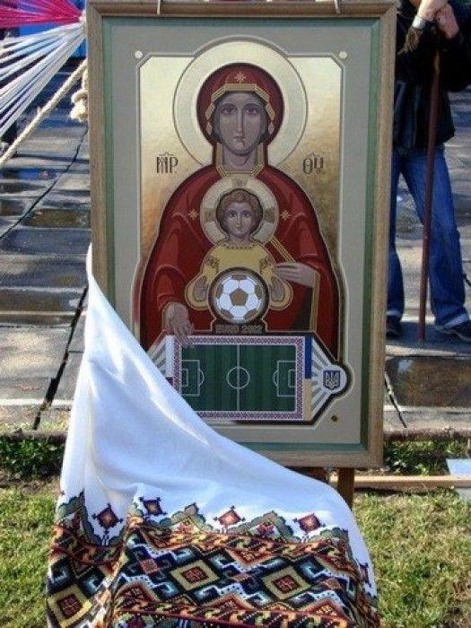 футбол на иконе