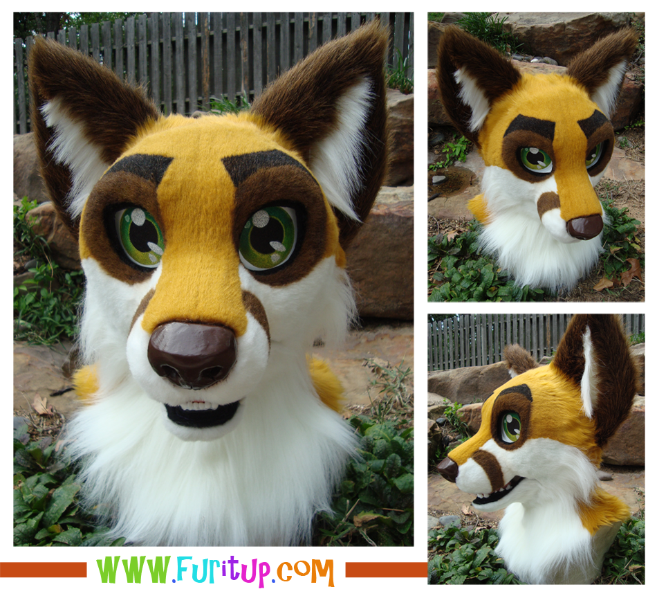 finished fox head