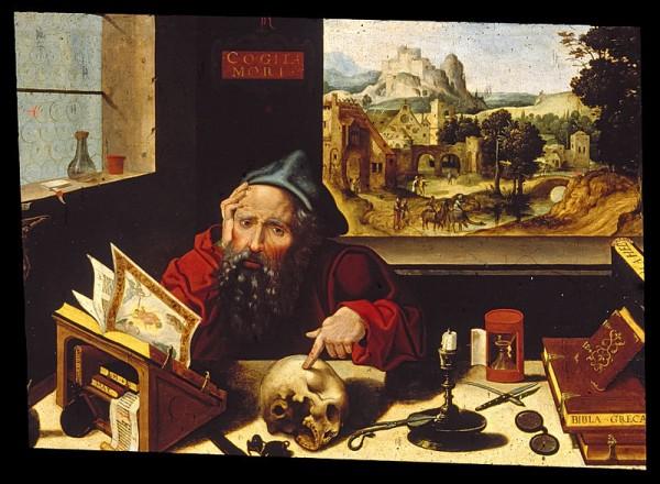 Workshop_of_Pieter_Coecke_van_Aelst,_the_elder_-_Saint_Jerome_in_His_Study_-_Walters_37256