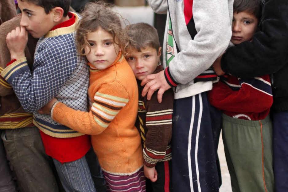 мусульманские и христианские дети в Сирии