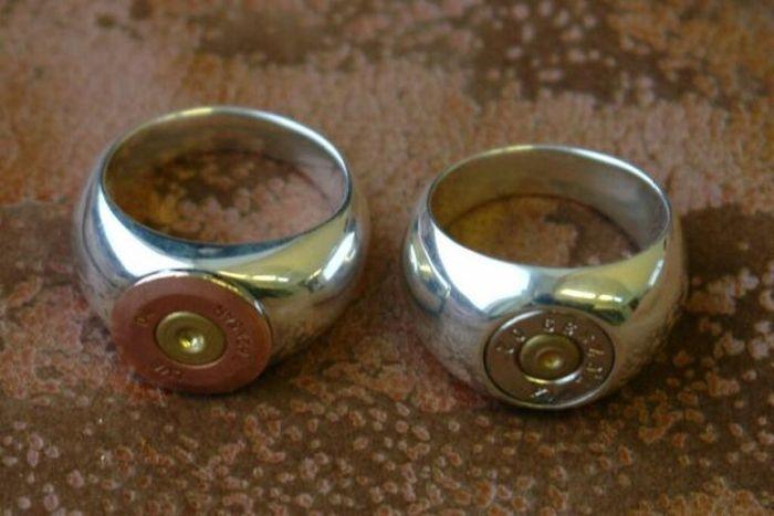 Обручальные кольца из пули