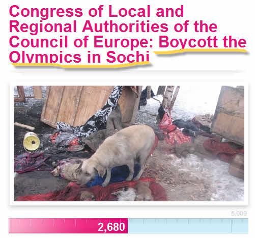 Бойкот Олимпиады в Сочи из-за убитых собак