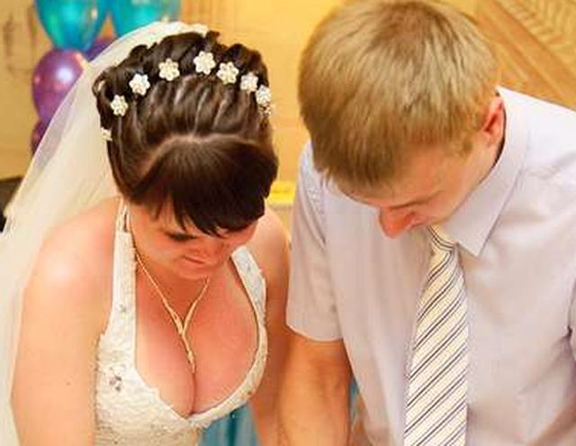 Сиськи на свадьбе