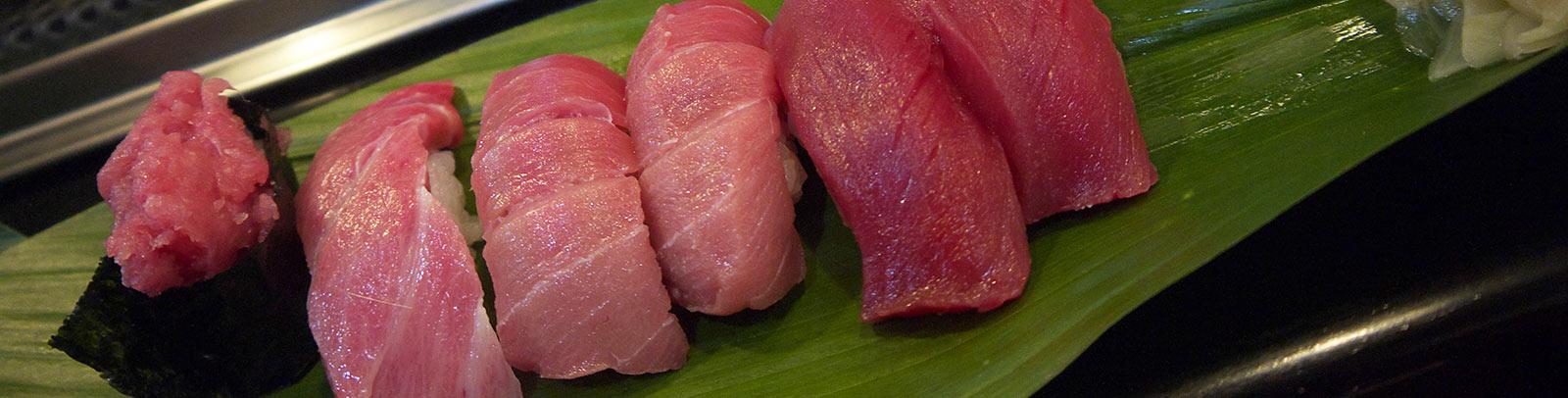 тунец, суши