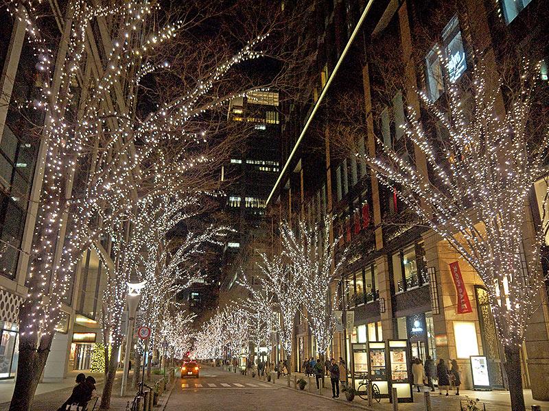 Токио, tokyo, stret, Маруноути, Маруноучи, новый год, иллюминация