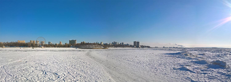 амур, зима, ледовая переправа, переправа, лед, торосы, панорама, снег